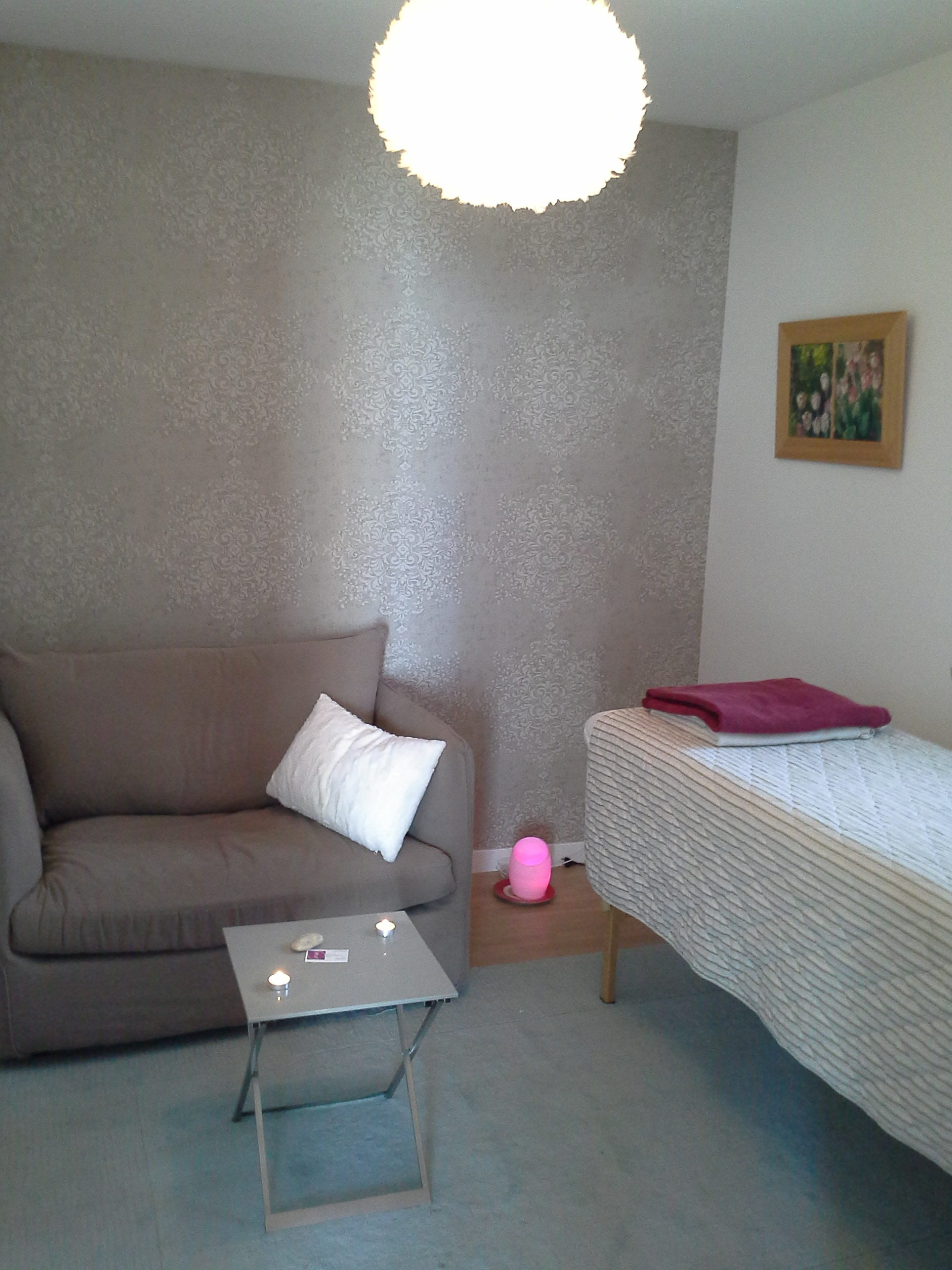 La salle de soins, confort et calme absolu